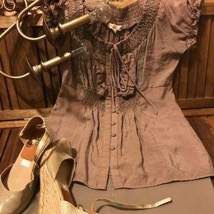 Mine brand bohemian style blouse